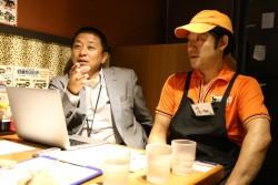 ミレニアムダイニング代表取締役の重森貴弘さんとお弁当物語なんば店店長の浜畑大さん