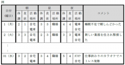 体調記録表